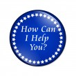 How Can I Help You button — Stock Photo