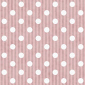 Pink and White Polka Dot and Stripes Fabric Background — Stock Photo
