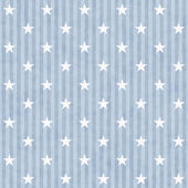 Blue and White Stars and Stripes Fabric Background — Stock Photo