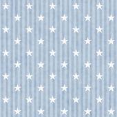 Mavi ve beyaz yıldızlar ve çizgiler kumaş arka — Stok fotoğraf