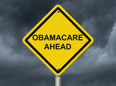 Warning about Obamacare — Stock Photo