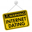 Stock Photo: Warning about Internet Dating