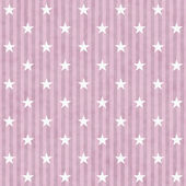 Pink and White Stars and Stripes Fabric Background — Stock Photo