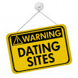 Warning about Dating Sites — Stock Photo