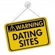 Stock Photo: Warning about Dating Sites