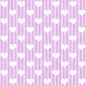 Pink and White Hearts and Stripes Fabric Background — Stock Photo