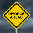 Stock Photo: Warning of Divorce is soon
