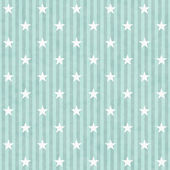 Green and White Stars and Stripes Fabric Background — Stock Photo