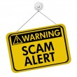 Warning of Scam Alert — Stock Photo