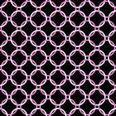 Black, Pink and White Interlaced Circles Textured Fabric Backgro — Stock Photo