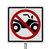 No ATV allowed — Stock Photo