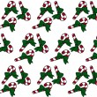 Candy Cane Christmas Textured Fabric Background — Photo