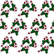 Candy Cane Christmas Textured Fabric Background — Stock Photo