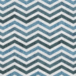 Blue Zigzag Textured Fabric Background — Stock Photo