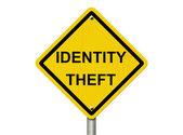 Warning of Identity Theft — Stock Photo