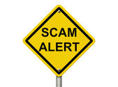 Warning of a Scam — Stock Photo