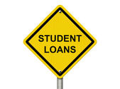 Warning of having Student Loans — Stock Photo