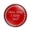 How May I Help You button — Stock Photo