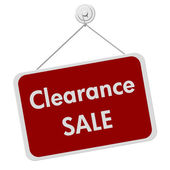 Clearance Sale Sign — Stock Photo