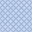 Stock Photo: Blue Interlaced Circles Textured Fabric Background