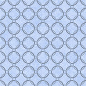 Blue Interlaced Circles Textured Fabric Background — Stock Photo