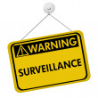 Warning of Surveillance — Stock Photo