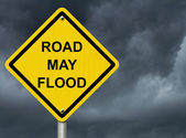 Flood Warning — Stock Photo