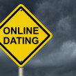 Warning about Internet Dating — 图库照片