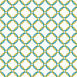 Teal and Gold Interlaced Circles Textured Fabric Background — Stock Photo