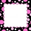 Pink and Black Polka Dot background for your message or invitati — Stock Photo #32744563