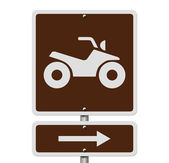 Places to ride ATV — Stock Photo