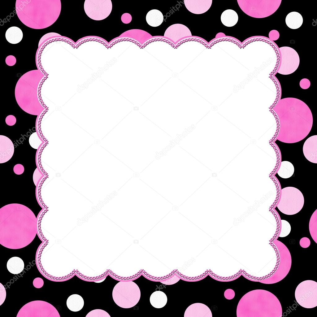 pink and black polka dot background for your message or