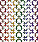 Gay Pride Color Interlaced Squares Textured Fabric Background — Stock Photo