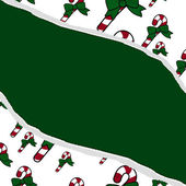 Red and Green Candy Cane Christmas Torn Background for your mess — Stock Photo