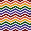 Gay Pride Colors in a Zigzag Pattern Background — Foto de Stock