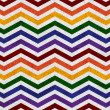 Gay Pride Colors in a Zigzag Pattern Background — 图库照片