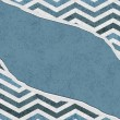 Blue Chevron Torn Background for your message or invitation — Stockfoto