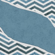 Blue Chevron Torn Background for your message or invitation — ストック写真