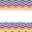 Rainbow Color Chevron Torn Background for your message or invita — Photo