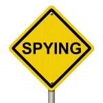 Warning of Spying — Stock Photo