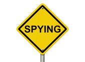 Varování ze špionáže — Stock fotografie