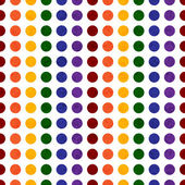 Rainbow Colored Polka Dot Textured Fabric Background — Stock Photo