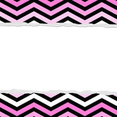 Pink, White and Black Chevron Torn Background for your message o — Stock Photo