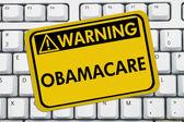 Warning of Obamacare — Stock Photo