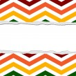 Rainbow Color Chevron Torn Background for your message or invita — Stock Photo #34206403