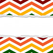Rainbow Color Chevron Torn Background for your message or invita — Stock Photo