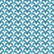 Blue Interlaced Circles Textured Fabric Background — Foto Stock