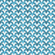 Blue Interlaced Circles Textured Fabric Background — ストック写真