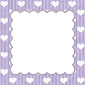 Purple Stripes and White Hearts background for your message or i — Stock Photo