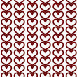 Red Hearts Textured Fabric Background — Stock Photo